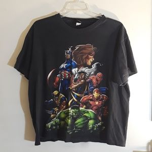Marvel Mad Engine Avengers X-Men Graphic Tee XL